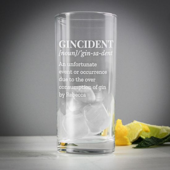 Personalised Gincident Highball Glass