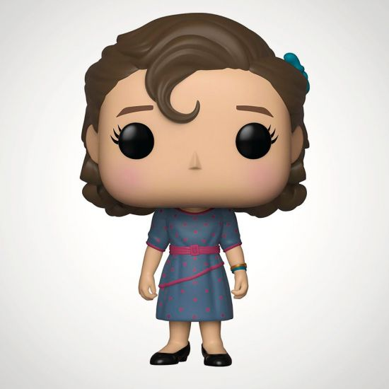 Stranger Things Eleven at Snowball Dance Pop! Vinyl - Grey Background