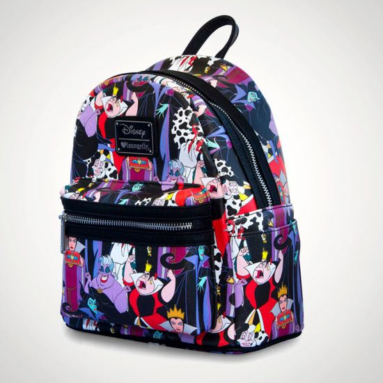 938ac306e0b Disney Villains Loungefly Backpack - Grey background