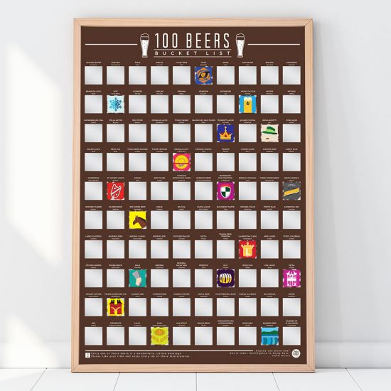 100 World Beer Bucket List Poster - Lifestyle