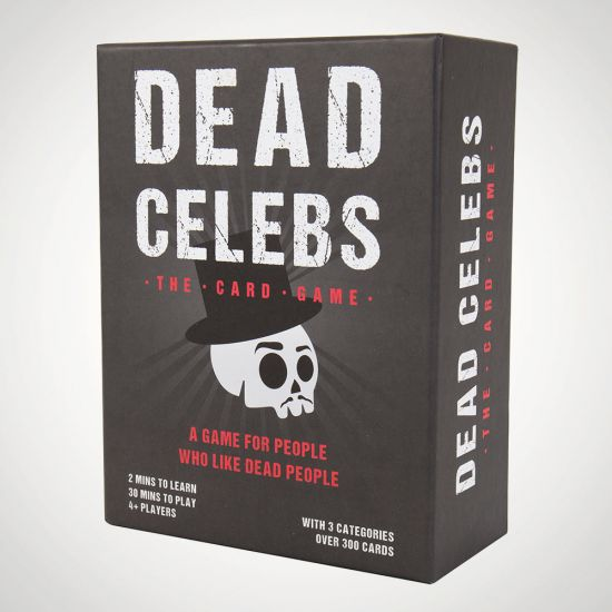 Dead Celebs Card Game - Grey Background