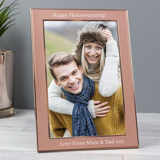 Personalised Rose Gold 4x6 Frame - Lifestyle