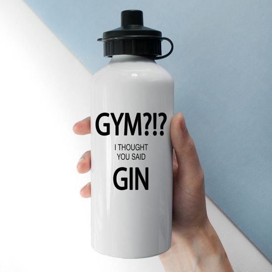 Personalised Gym/Gin Water Bottle