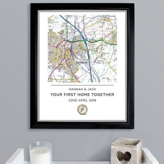 Personalised Map with Real Co-ordinates - Lifestyle