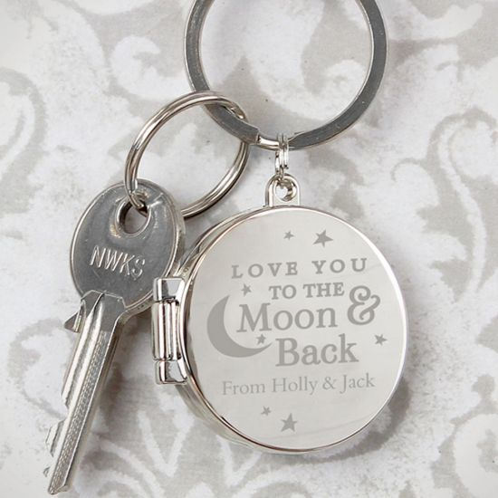 Personalised To the Moon and Back Photo Keyring - Lifestyle