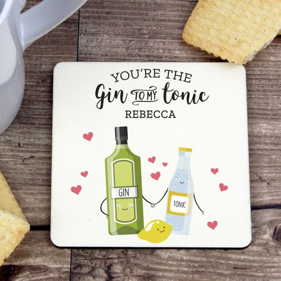 Personalised 'Gin to My Tonic' Coaster - Lifestyle