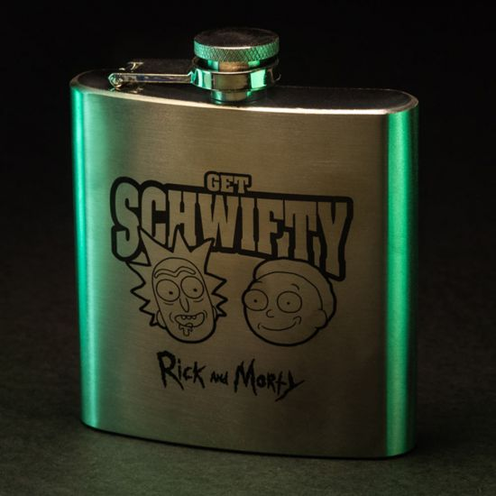 Rick and Morty Get Schwifty Hip Flask - Lifestyle