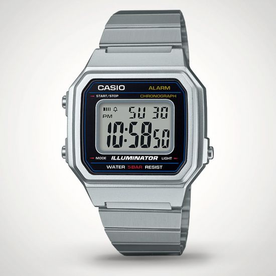Casio B650WD-1AEF Watch - Grey Background