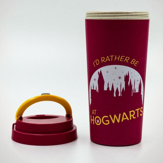 27cf899ec Harry Potter (Rather be at Hogwarts) Eco Travel Mug - Grey Background