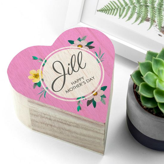 Personalised Mother's Day Heart Trinket Box - Lifestyle