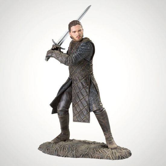 """Game of Thrones Jon Snow 8"""" Collectible Statue-Grey Background"""