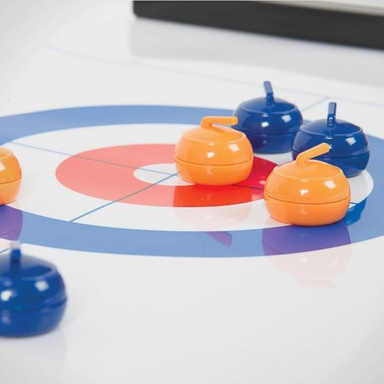 Portable Indoor Curling Tabletop Game - Lifestyle