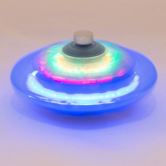 Light-Up Infinity Spinning Top - Grey background