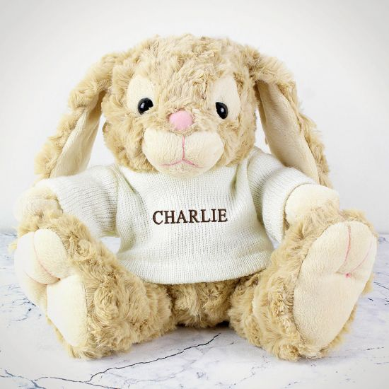 Personalised Bunny in Jumper - Lifestyle