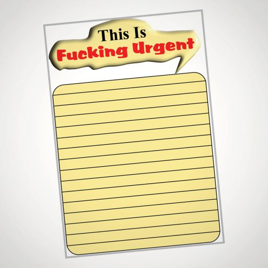 This Is F*cking Urgent Notepad - Grey Background