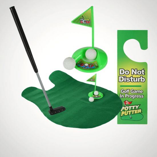 Potty Putter - Toilet Golf Game - Grey Background