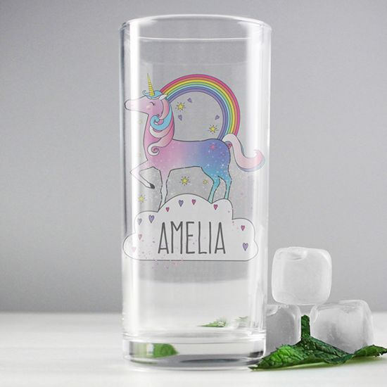 Personalised Unicorn Glass - Lifestyle