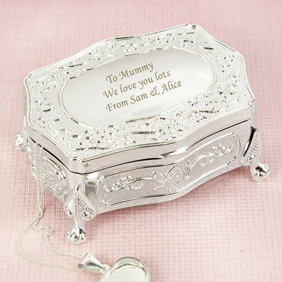 Personalised Trinket Box - Antique Finish - Lifestyle