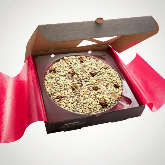 "Crunchy Munchy Chocolate Pizza 7"" - Grey Background"