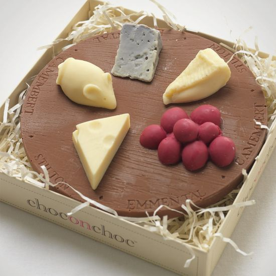 Mini Chocolate Cheese Board-Grey Background
