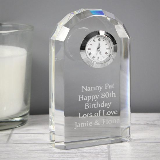 Personalised Crystal Clock - Lifestyle