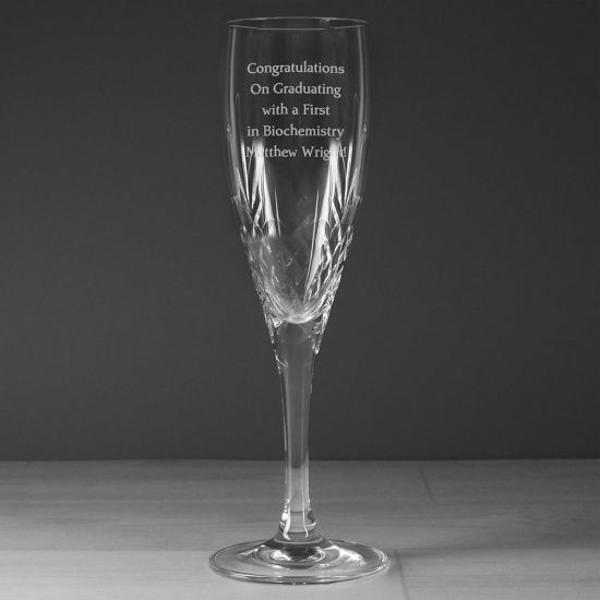 Personalised Crystal Champagne Flute - Lifestyle