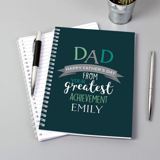 Personalised Dad's Greatest Achievement Notebook - Lifestyle