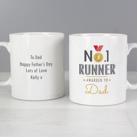 Personalised No.1 Runner Mug - Lifestyle