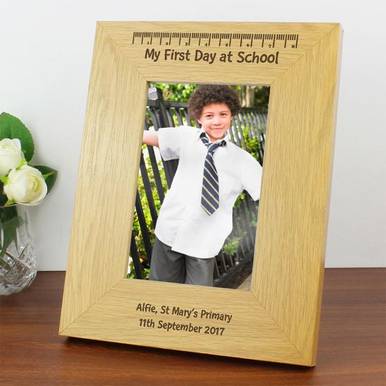 Personalised First Day at School Photo Frame - Lifestyle