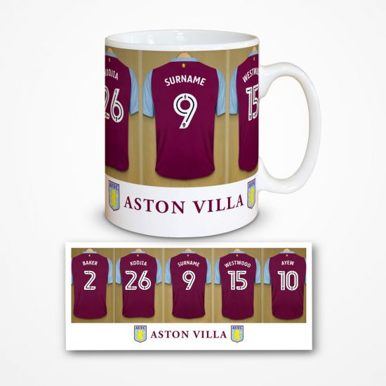 Aston Villa FC Personalised Dressing Room Mug - Personalised ... 78f486ed3cb