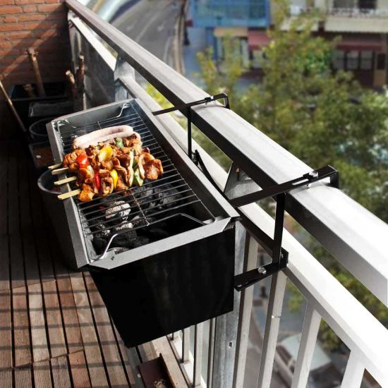 Balcony Bbq Weather Resistant Clip On Barbecue For Any