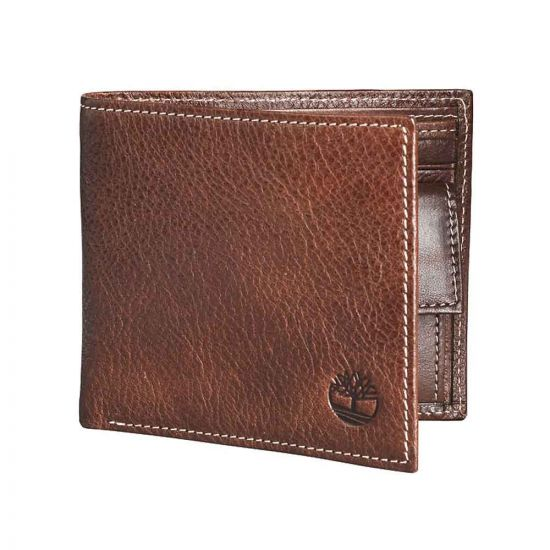 Timberland Bifold ID Wallet Brown