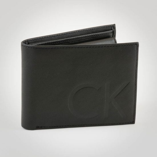 0cefa32cd7 Calvin Klein F1nn 5CC Coin Wallet Black - Genuine Leather Designer ...