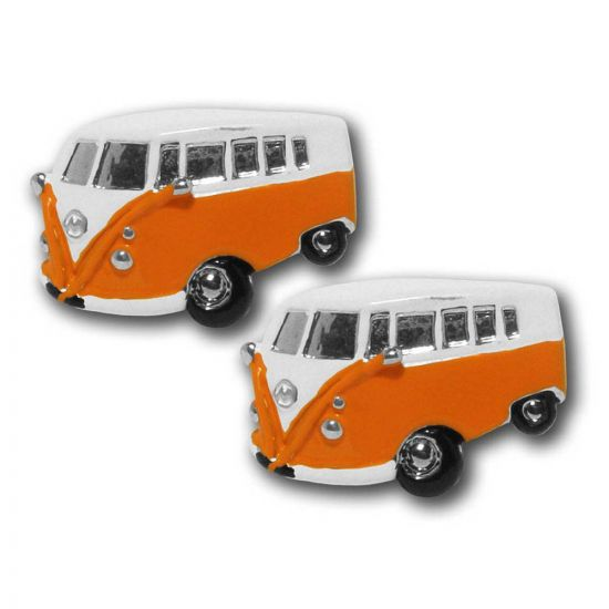 Campervan Cufflinks Orange