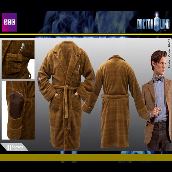 Dr Who Eleventh Doctor, Matt Smith fun Novelty Dressing Gown | Menkind
