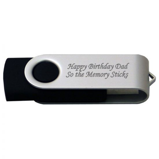 Engraved Twister 4GB Flash Drive