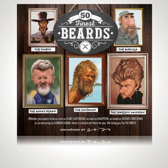 50 finest beards book front cover
