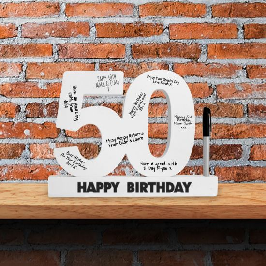 50th Birthday Signature Numbers - Lifestyle