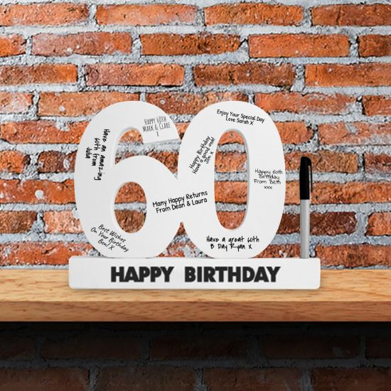 60th Birthday Signature Number - Lifestyle