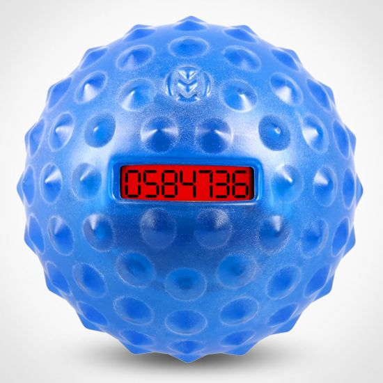Master a Million Bounce-Counting Ball showing the current bounce rate on a red lcd screen