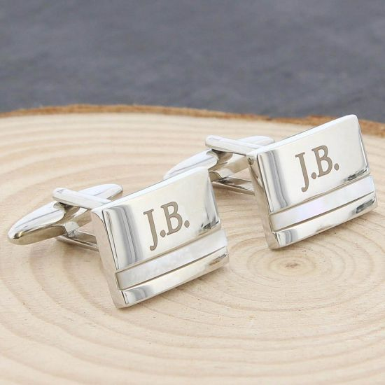 Mother of Pearl Cufflinks 1