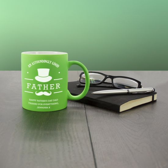 Astoundingly Good Father Personalised Matte Coloured Mug