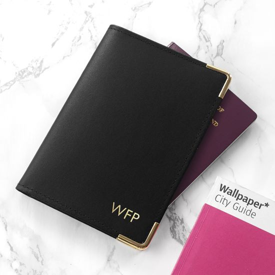Personalised Luxury Leather Passport Cover - Lifestyle
