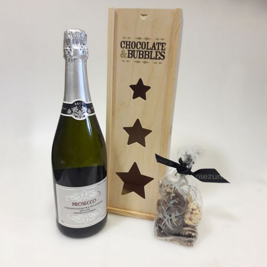 Personalised Prosecco and Chocolates 1