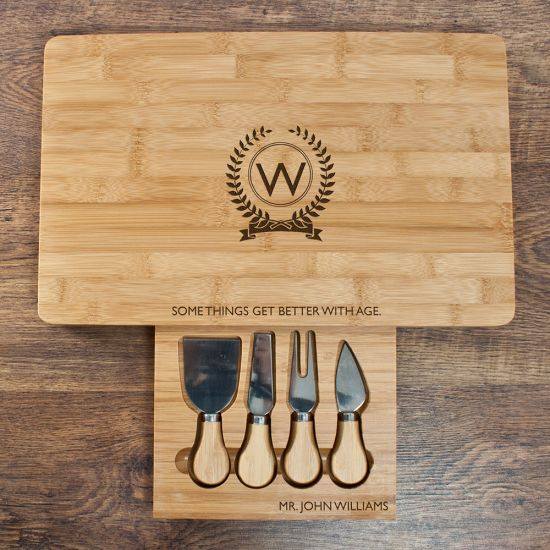 """Personalised """"Some Things Get Better with Age"""" Cheese Board Set"""