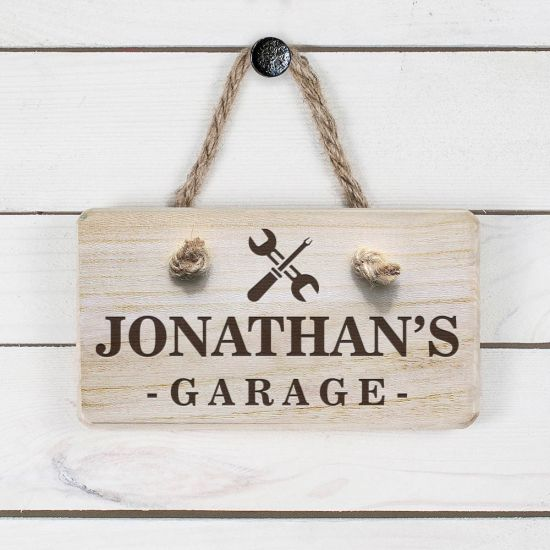 Personalised Wooden Garage Sign 1