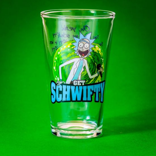 Rick and Morty Get Schwifty Large Glass 1