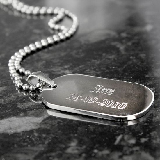 Stainless Steel Dog Tag Necklace 1