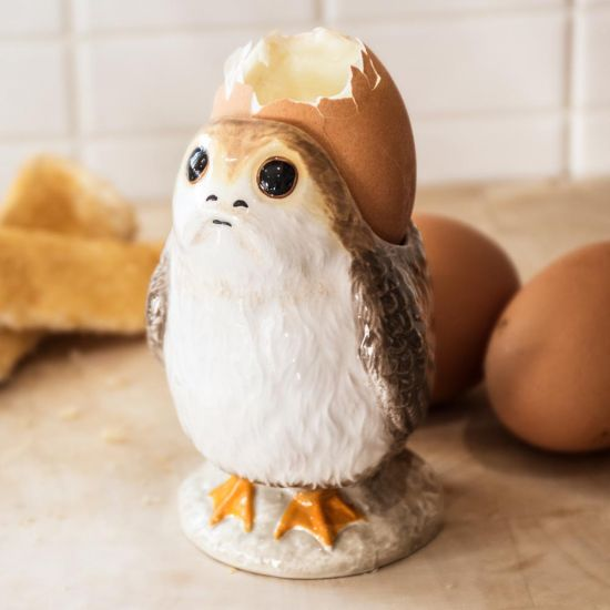 Star Wars The Last Jedi Officially Licensed Porg Egg Cup | Menkind
