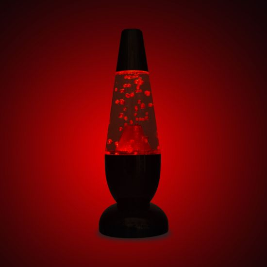 Volcano Light on red and black background